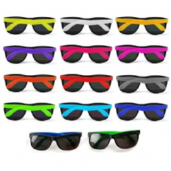 Two-Tone Neon Beach Sunglasses