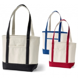 Large Cotton Boat Tote