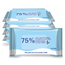 Antibacterial wipes in 10 pack